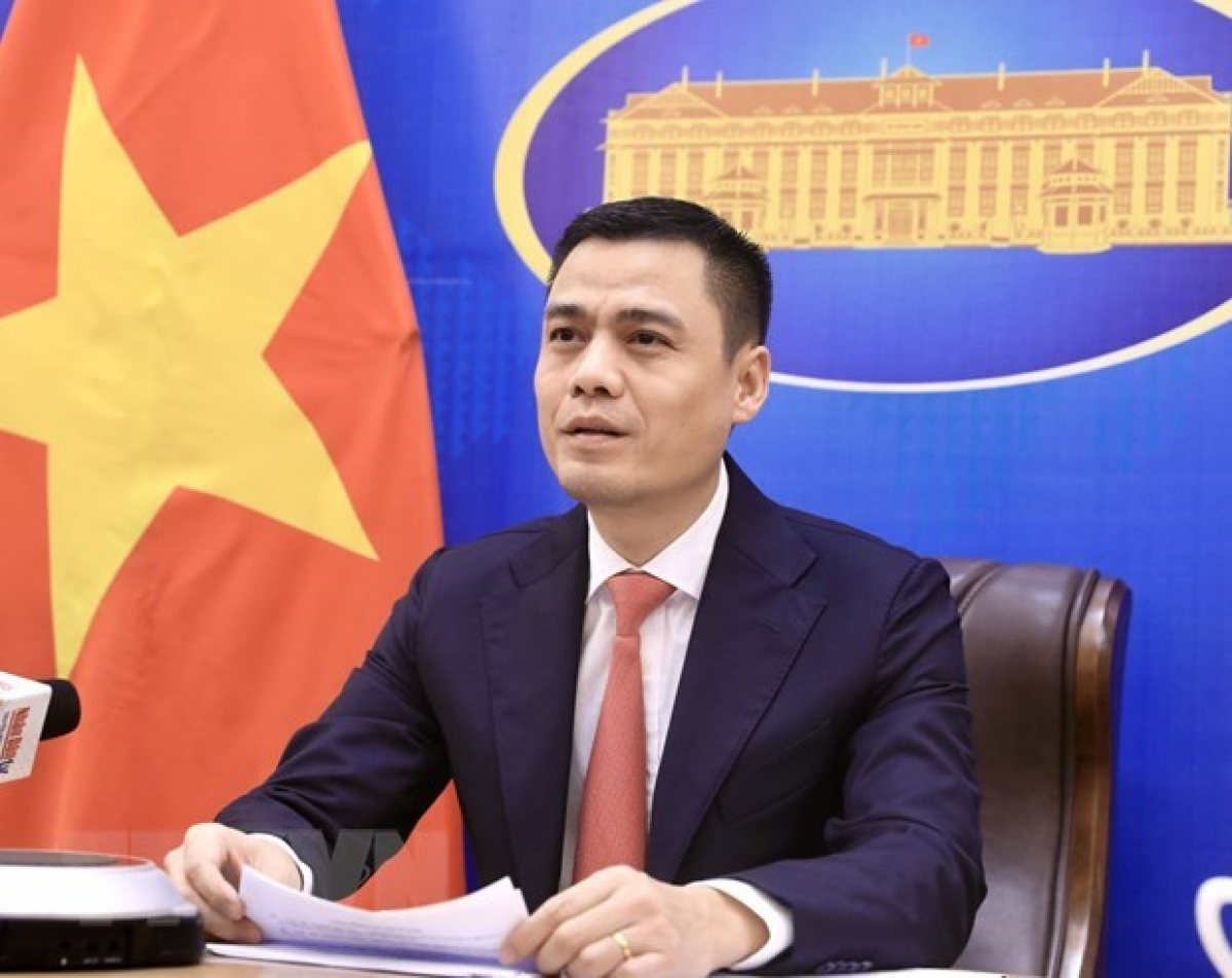 Deputy Foreign Minister Dang Hoang Giangattends the Sixth Meeting of the Ministers of Foreign Affairs of the Conference on Interaction and Confidence Building Measures in Asia (CICA) held virtually on October 12. (Photo: VNA)