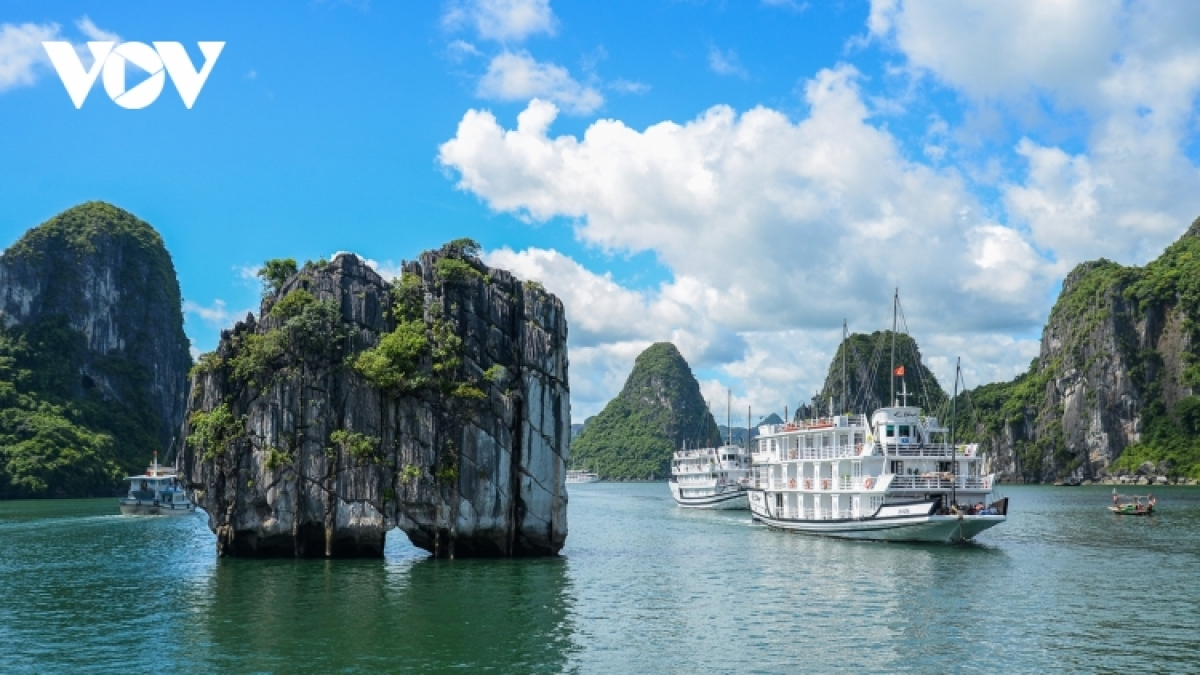 The world heritage site of Ha Long Bay in the northern province of Quang Ninh
