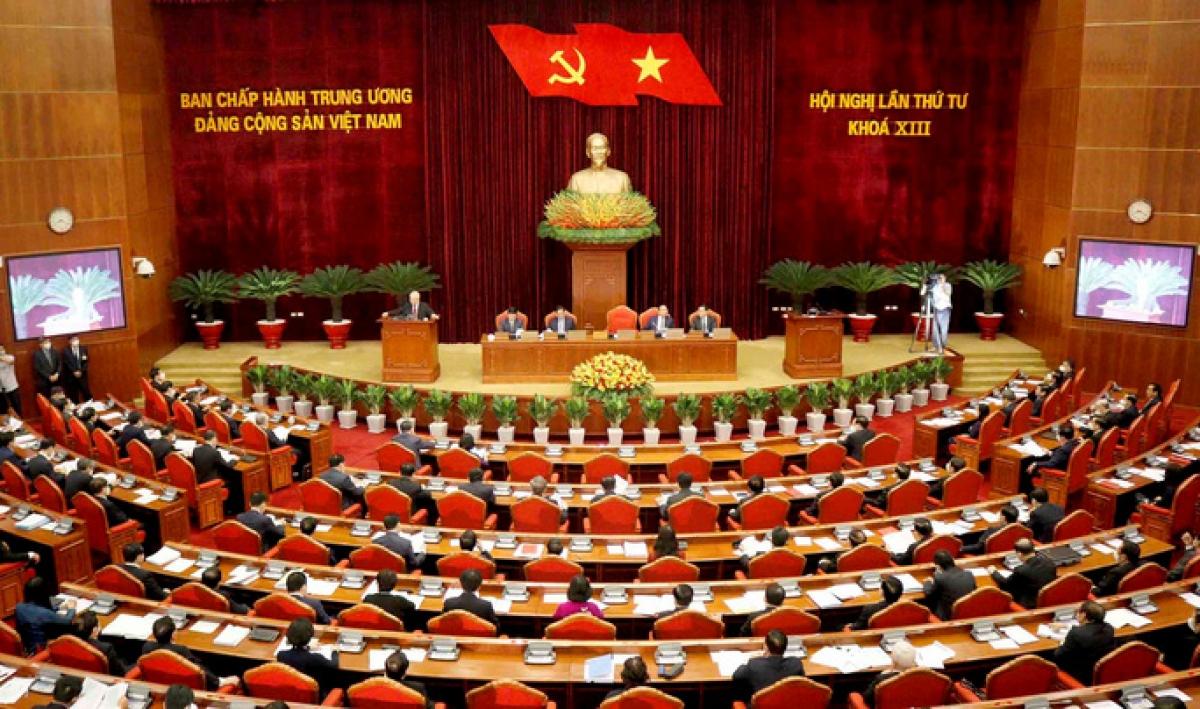 Toàn cảnh hội nghị Trung ương lần thứ 4, khóa XIII