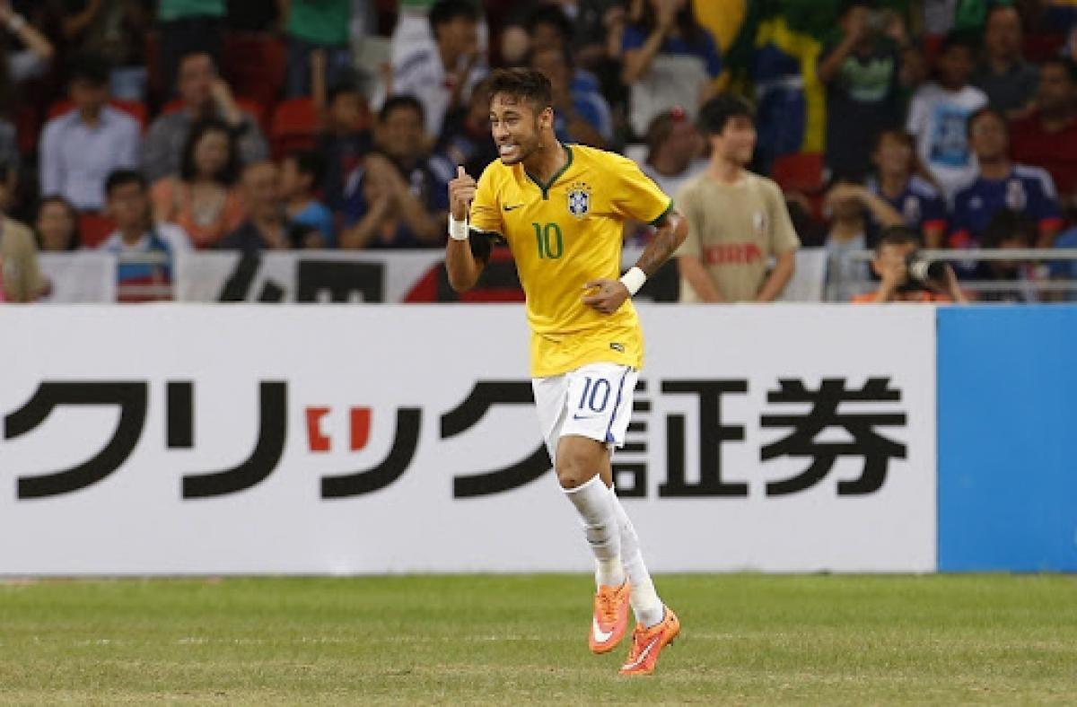 Neymar trong trận đấu cách đây 7 năm. (Ảnh: Getty).