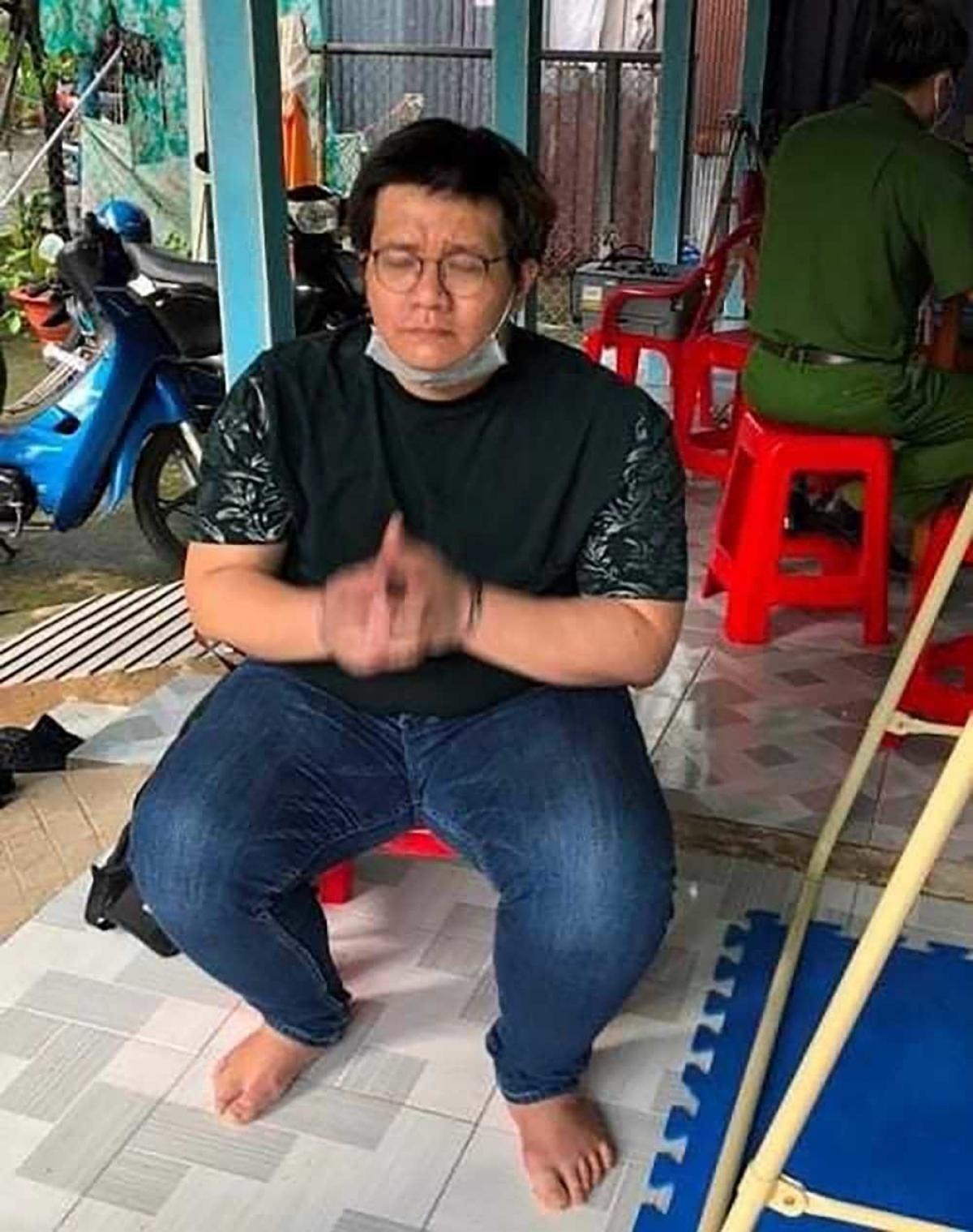 Nhâm Hoàng Khang thời điểm bị bắt tại Cần Thơ. (Ảnh: Công an cung cấp)