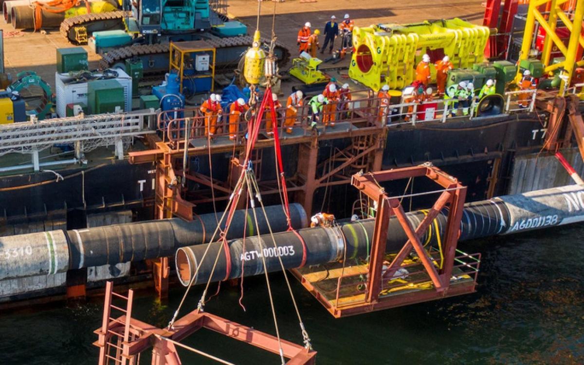 Tuyến đường ống dẫn khí Nord Stream 2 đã được hoàn thành nhưng vẫn chưa hoạt động. Ảnh: Reuters