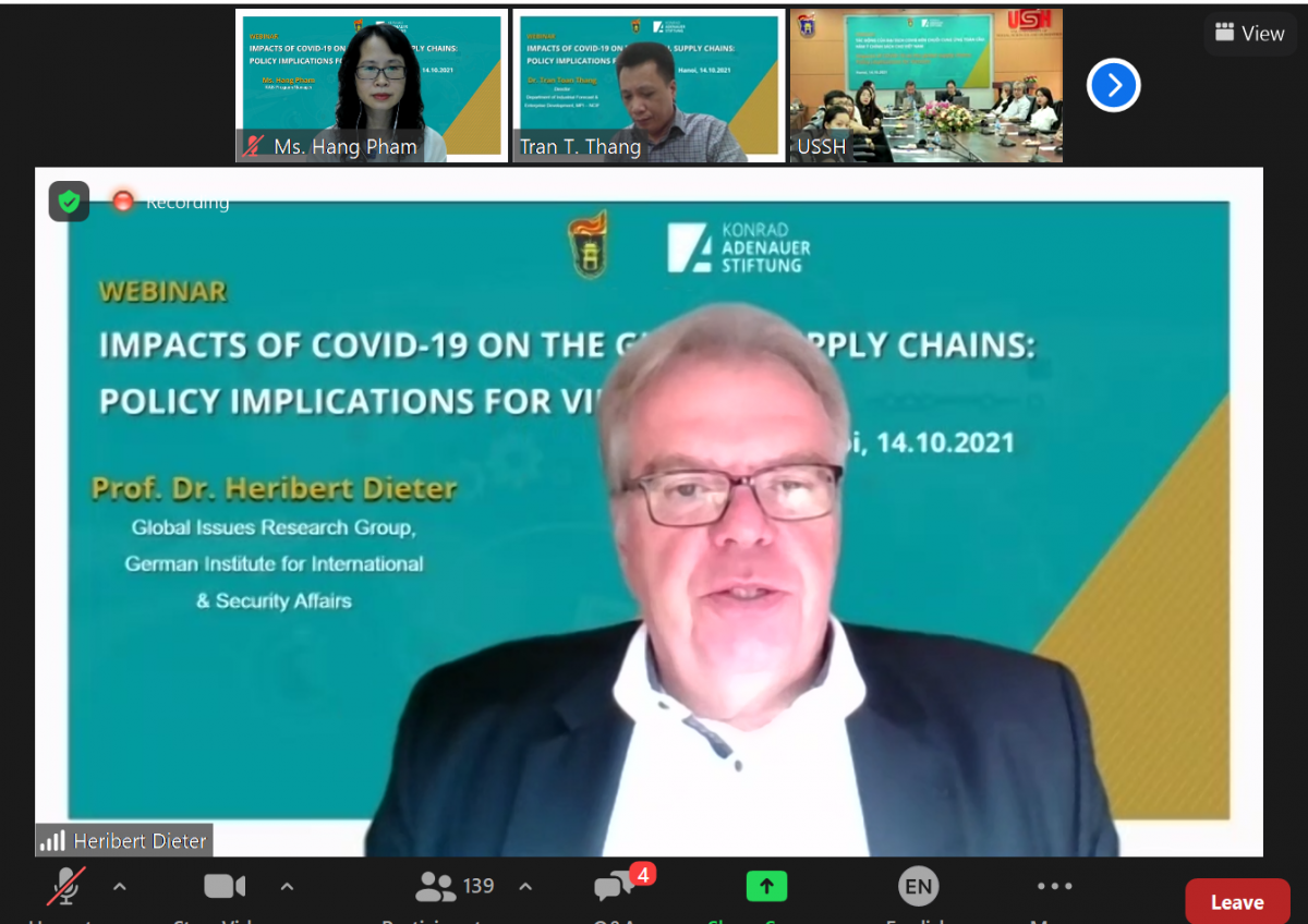 Prof. Dr. Heribert Dieter from the German InstituteforInternational and Security Affairs.