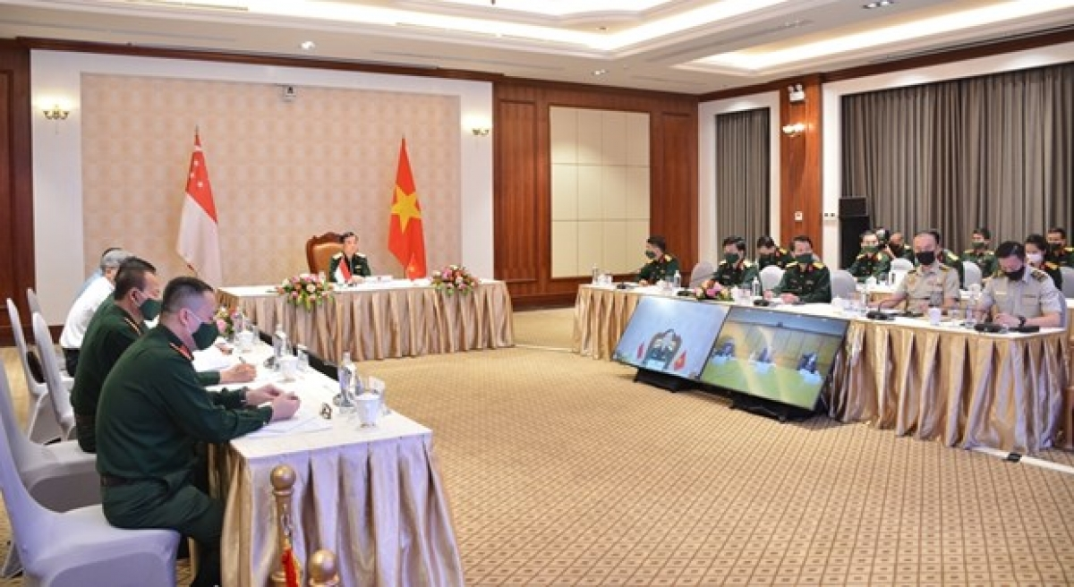 Vietnam, Singapore hold 12th defence policy dialogue. (Photo:qdnd.vn)