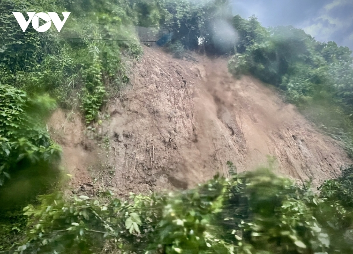 Heavy downpour triggers landslides in Phuoc Son district.
