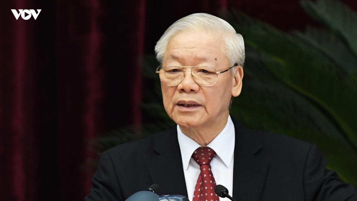 Tổng Bí thư Nguyễn Phú Trọng phát biểu bế mạc Hội nghị lần thứ 4, BCH Trung ương Đảng khóa XIII