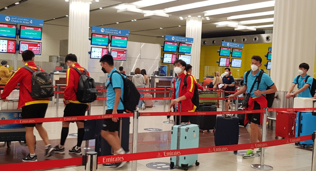 Park and his players are required to be present at Dubai International Airport at midnight for check-in procedures as the plane departs at 02.15am.