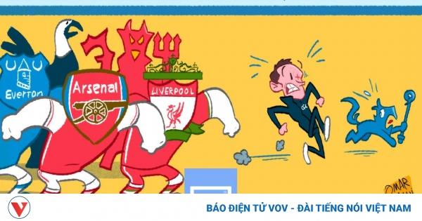 Biếm họa 24h: HLV Lampard và học trò đi dọa đối thủ và cái kết đắng   VOV.VN