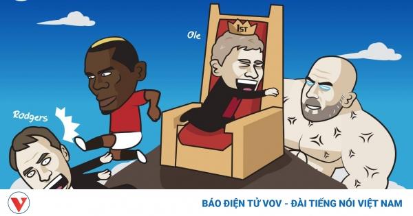 Biếm họa 24h: Pogba đá bay Rodgers, đưa Solskjaer lên đỉnh BXH | VOV.VN
