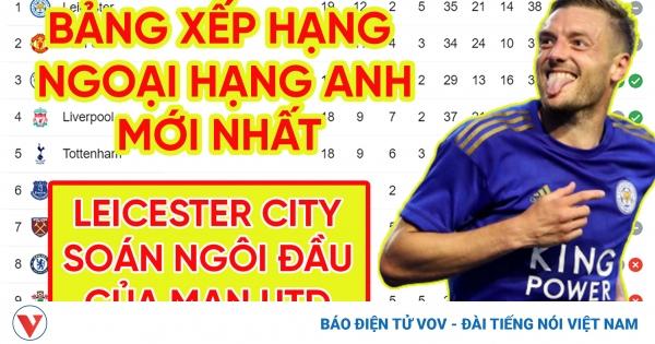 Bảng xếp hạng Ngoại hạng Anh mới nhất: Leicester City chiếm ngôi đầu của MU | VOV.VN