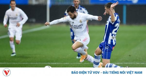 Hazard ghi bàn trở lại sau 2 tháng, Real Madrid thắng đậm Alaves  | VOV.VN