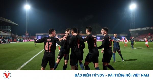 Sao trẻ tỏa sáng, Man City ngược dòng tiến bước vào vòng 5 FA Cup  | VOV.VN