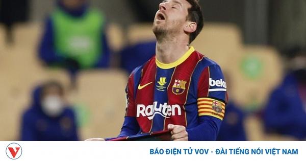 Nhận thẻ đỏ đầu tiên ở Barca, Messi bị treo giò 2 trận  | VOV.VN