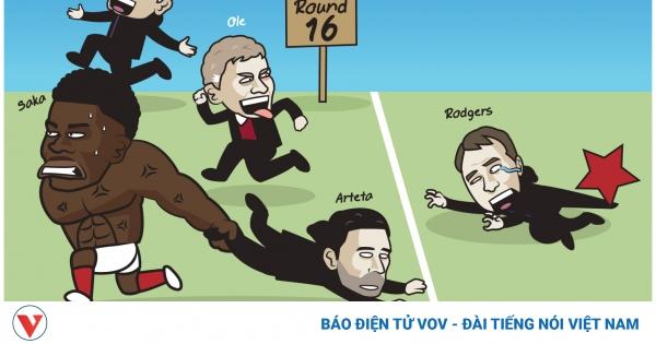 Biếm họa 24h: Bukayo Saka gồng mình kéo HLV Arteta vào vòng 1/8 Europa League | VOV.VN