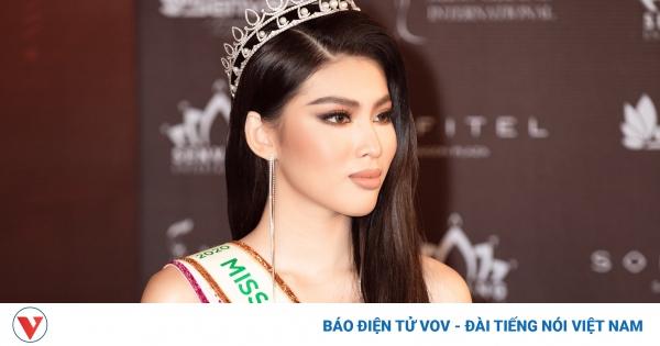 Á hậu Ngọc Thảo nổi bật trong họp báo công bố tham dự Miss Grand International 2020 | VOV.VN