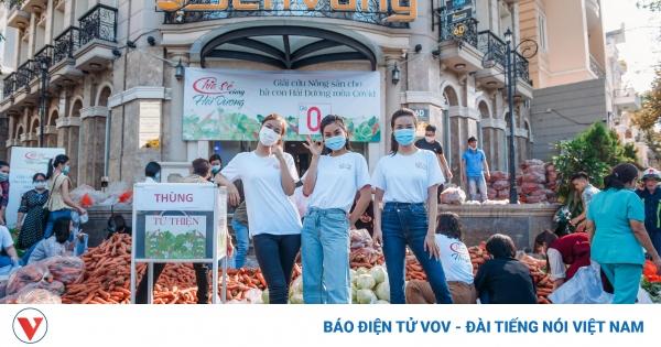 Phương Anh, Kiều Loan, Diễm Trang chung tay giải cứu nông sản Hải Dương | VOV.VN