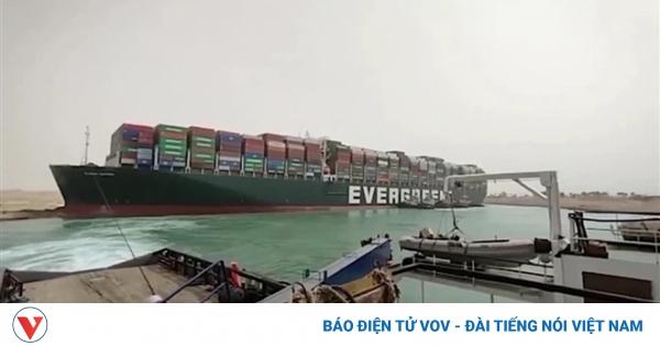 Bộ Công Thương: Nghẽn kênh Suez ảnh hưởng xuất nhập khẩu Việt Nam và châu Âu | VOV.VN