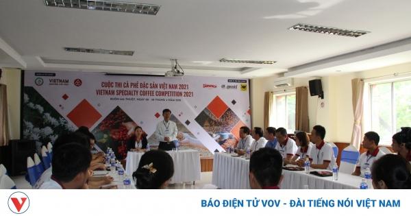 74 mẫu dự thi Cà phê đặc sản Việt Nam 2021   VOV.VN