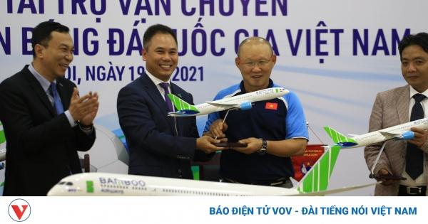 Các Đội tuyển bóng đá Việt Nam có nhà tài trợ vận chuyển đẳng cấp 5 sao  | VOV.VN