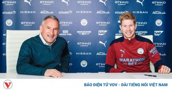 De Bruyne gia hạn hợp đồng với Man City tới năm 2025 | VOV.VN