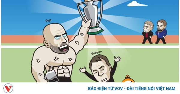 Biếm họa 24h: HLV Pep Guardiola khoe bụng 6 múi khi vô địch Ngoại hạng Anh | VOV.VN
