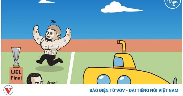 Biếm họa 24h: HLV Solskjaer khoe cơ bắp trước mặt HLV Unai Emery | VOV.VN