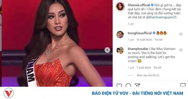 Lan Ngọc và dàn nghệ sĩ Việt khen ngợi, động viên Khánh Vân tại Miss Universe