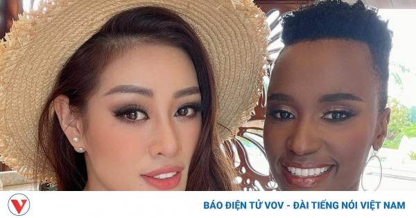 Khánh Vân được lựa chọn để quay clip cùng đương kim Hoa hậu Hoàn vũ Zozi Tunzi
