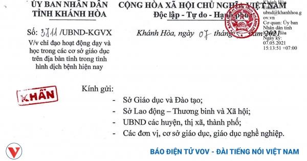 Khánh Hòa cho học sinh tạm dừng đến trường   VOV.VN