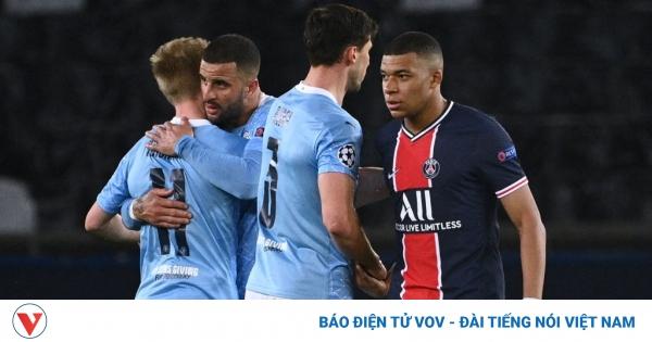 TRỰC TIẾP Man City 0-0 PSG: Mbappe dự bị | VOV.VN